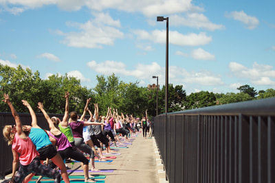 Yoga on the Bridge with Latitude 44