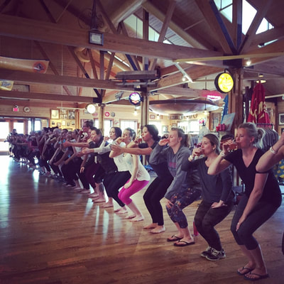 Yoga and beer at the Leinie Lodge with Latitude 44