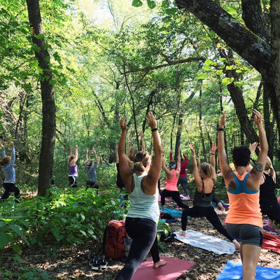 Yoga on the trails at Beaver Creek Reserve with Latitude 44