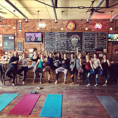 Yoga and Beer at Firehouse Bar with Latitude 44