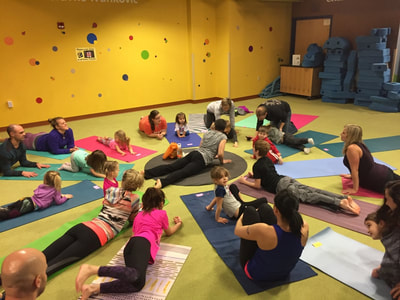 Little Yogis at the Children's Museum with Latitude 44